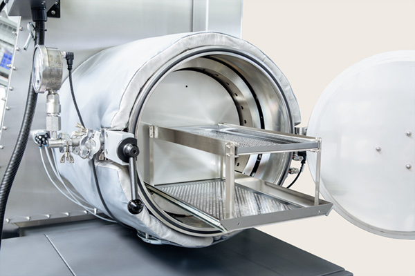 GS Vacuum Furnace, 250 ° C, combinated with the vacuum antechamber d = 400