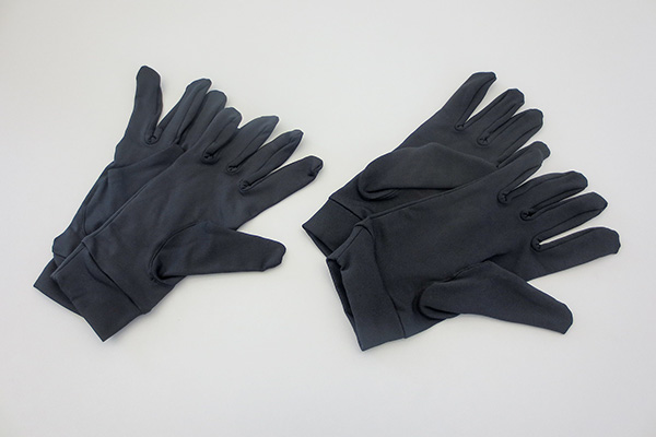 under gloves made of microfibre
